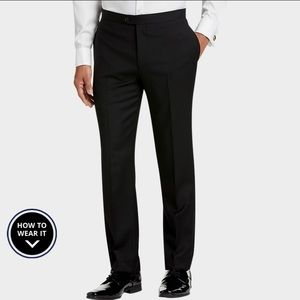 Calvin Klein Black Extreme Slim Fit Tuxedo Slacks